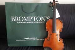 A violin picked up directly from Royal Insitution of Great Britain to Novara Italy
